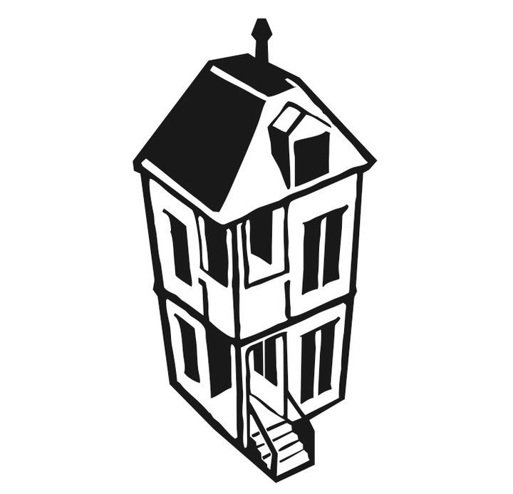 Clip art of two story house