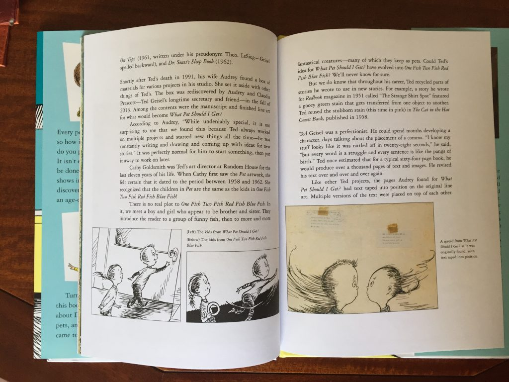 Pages from a Dr. Seuss book