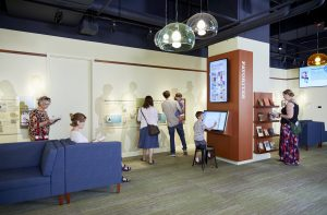 Visitors in the Readers Hall