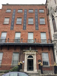 The facade of the Dublin Writers Museum