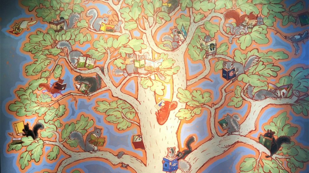 The top half of the tree mural at the AWM