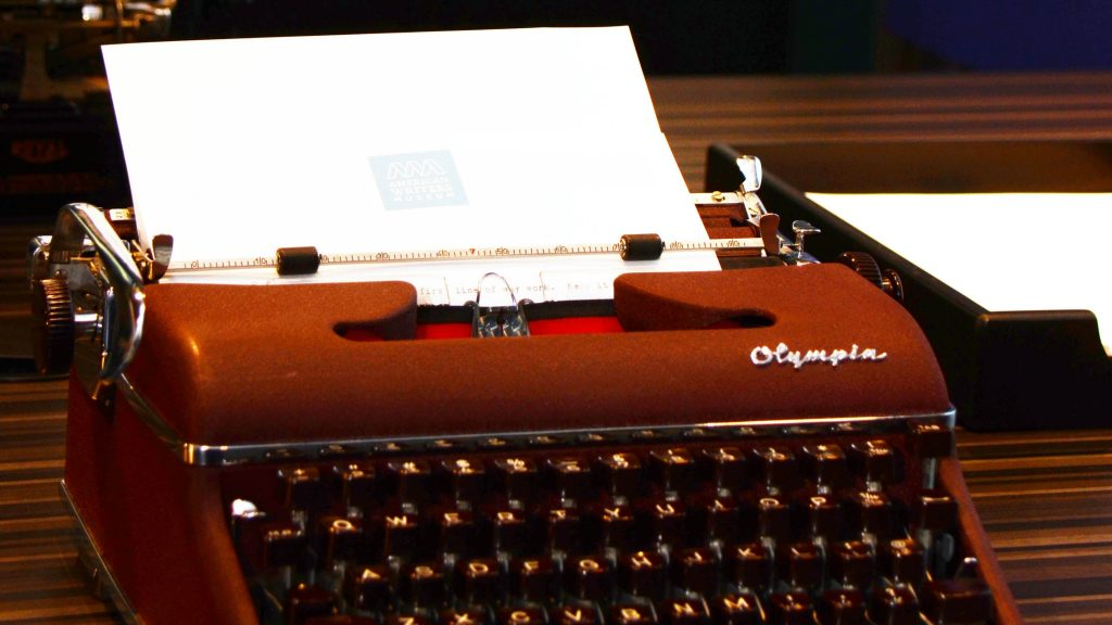 An Olympia typewriter at the American Writers Museum