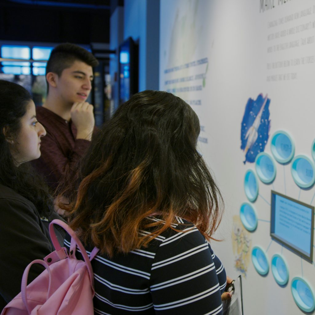 Students with the Mind of a Writer display at the American Writers Museum
