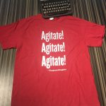 Agitate! Agitate! Agitate! Douglass t-shirt at the American Writers Museum