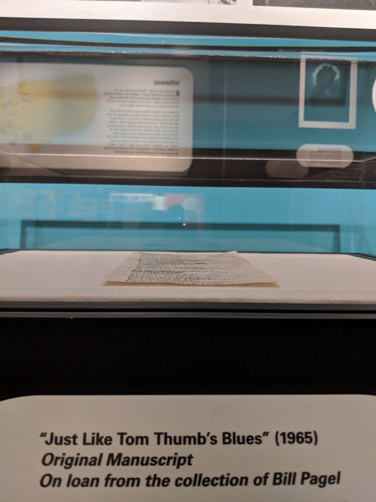 """Just Like Tom Thumb's Blues"" (1965) Original manuscript on loan from the collection of Bill Pagel"