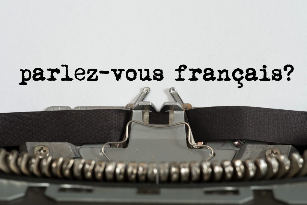 parlez-vous francais? written on a typewriter