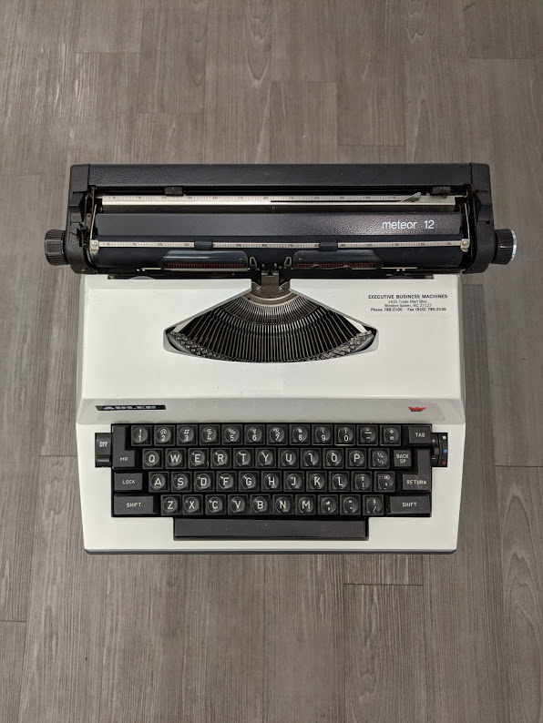 Maya Angelou's 1980 Adler Meteor 12 will be on display in our upcoming Tools of the Trade exhibit opening June 2019.