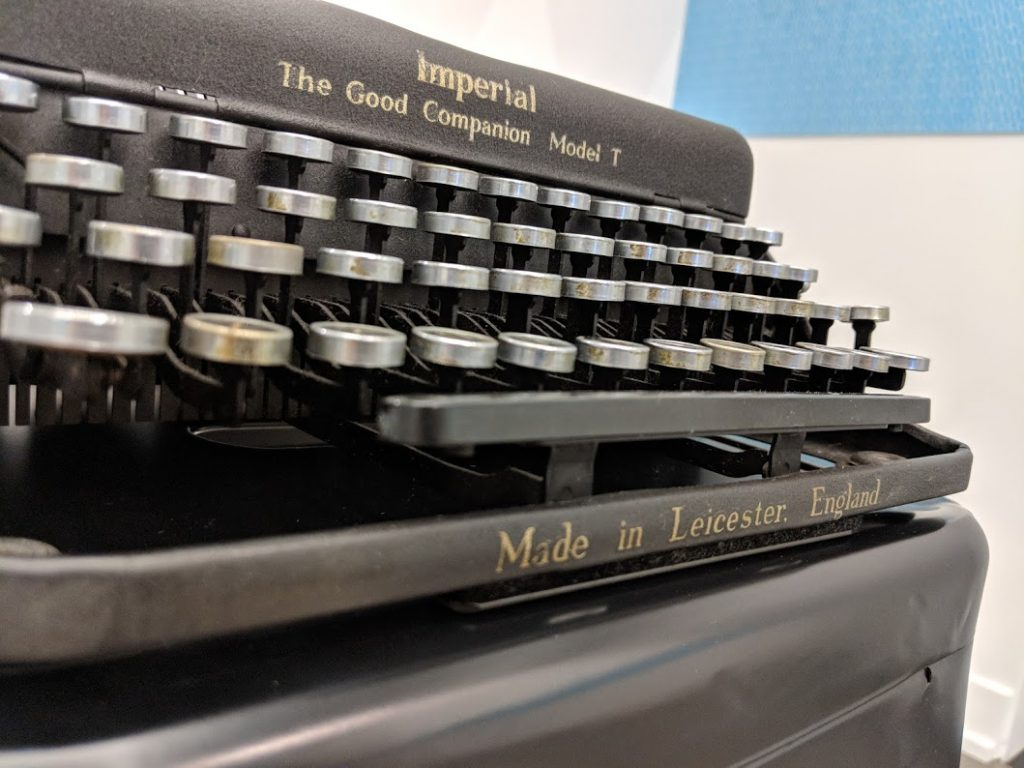 John Lennon's typewriter at the American Writers Museum