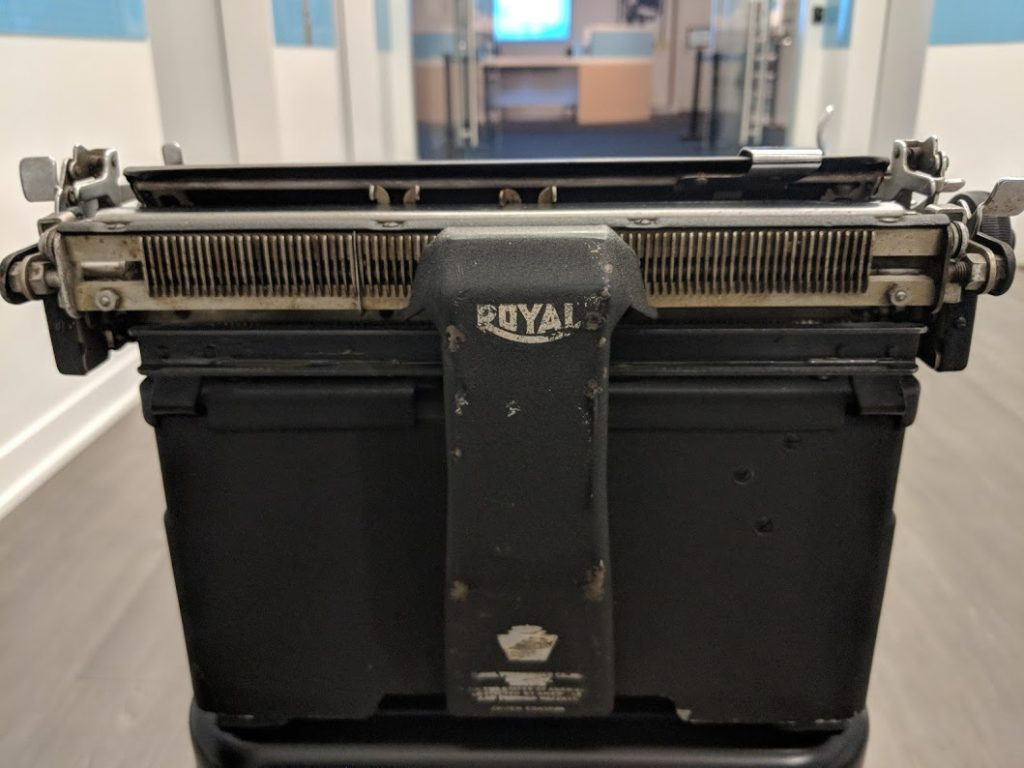 Ray Bradbury's 1947 Royal KMM will be on display in our upcoming Tools of the Trade exhibit, opening June 22, 2019.