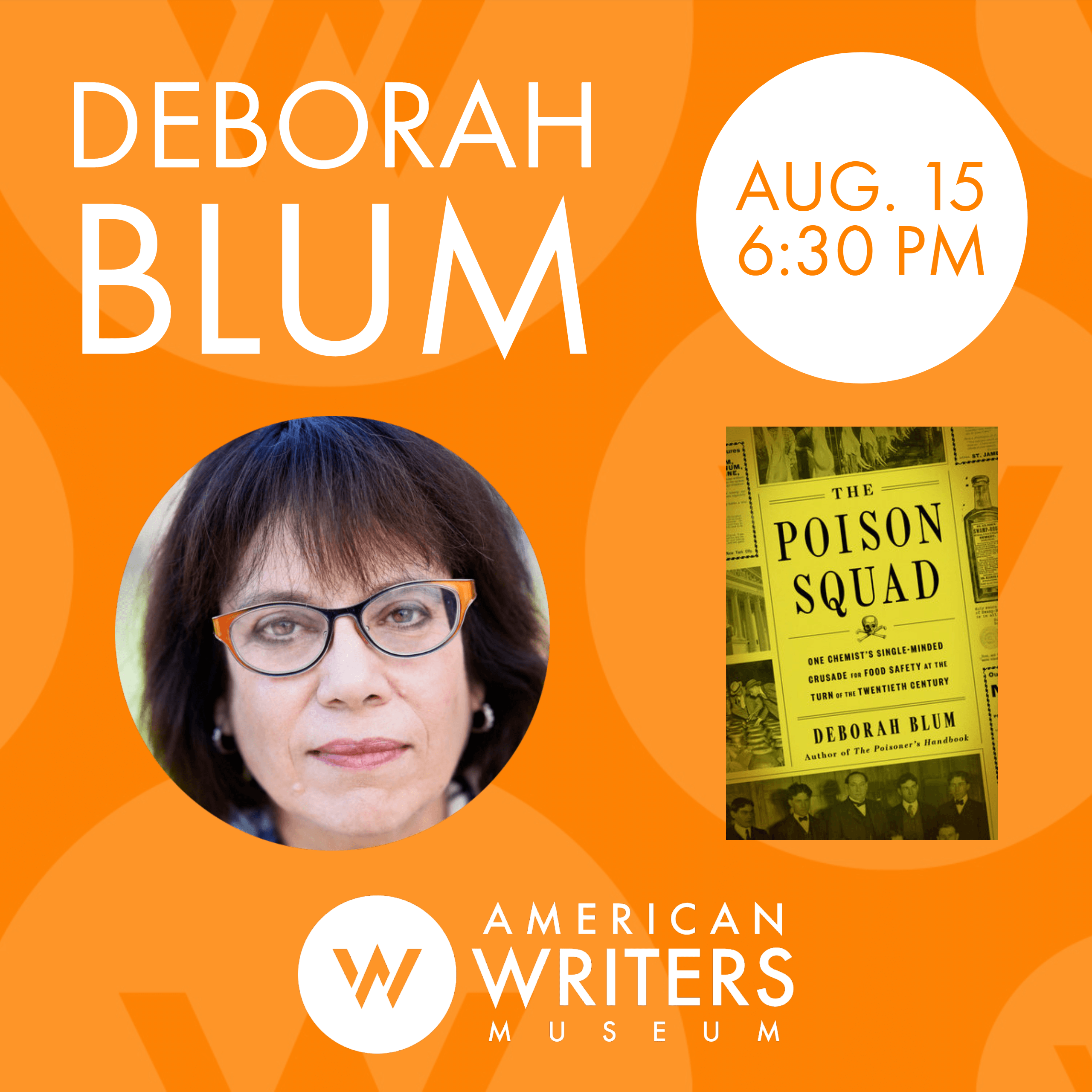 Deborah Blum at the American Writers Museum on August 15