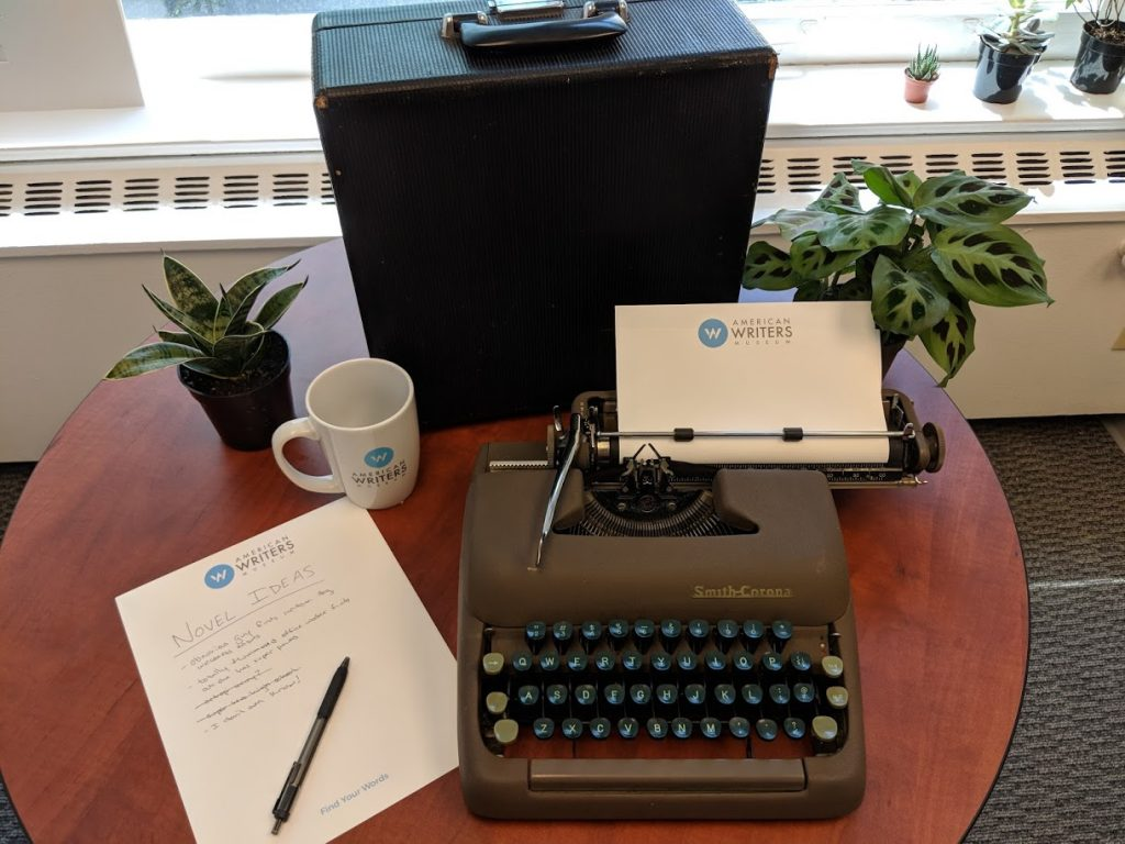 Typewriter giveaway photo contest at the American Writers Museum