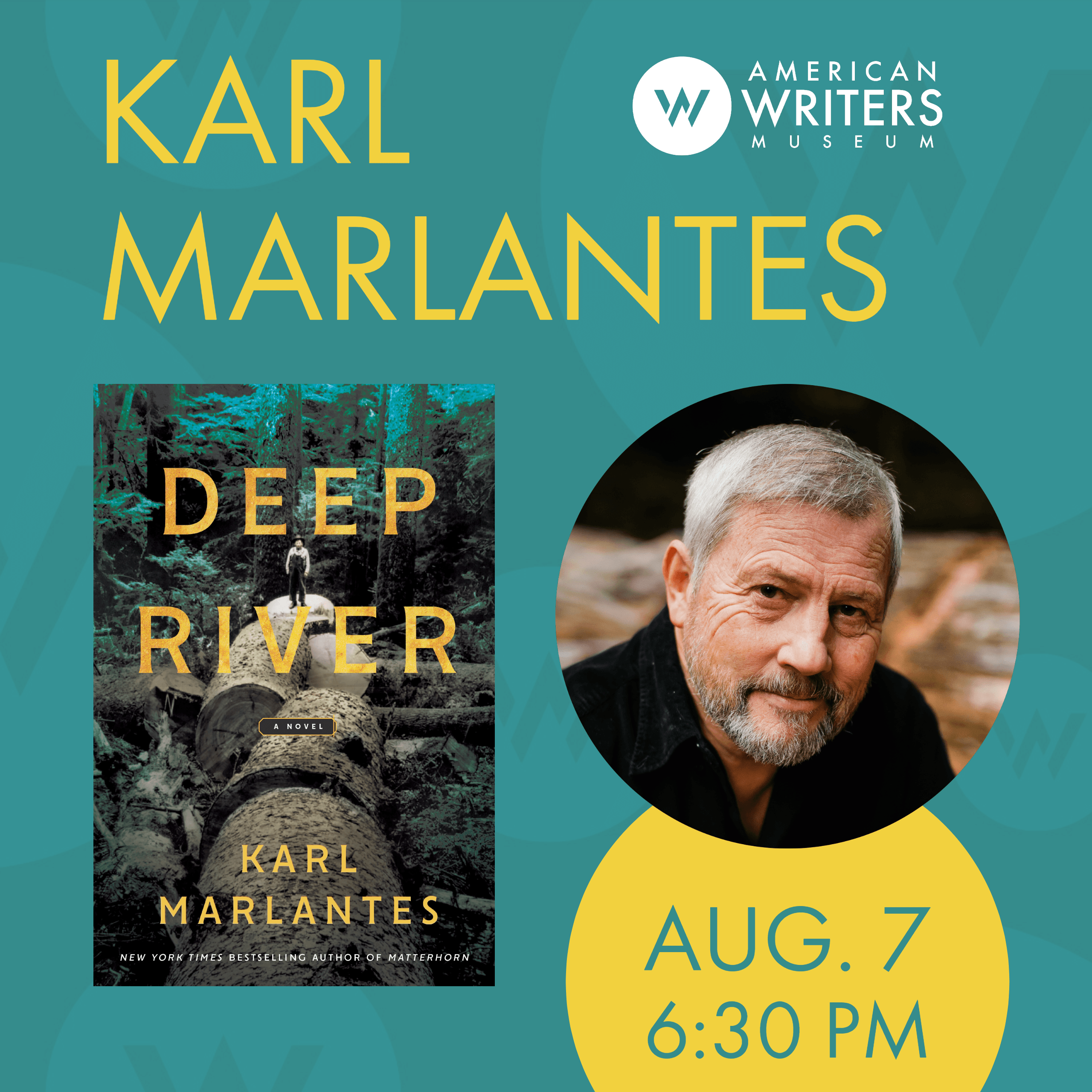 Karl Marlantes at the American Writers Museum on August 7