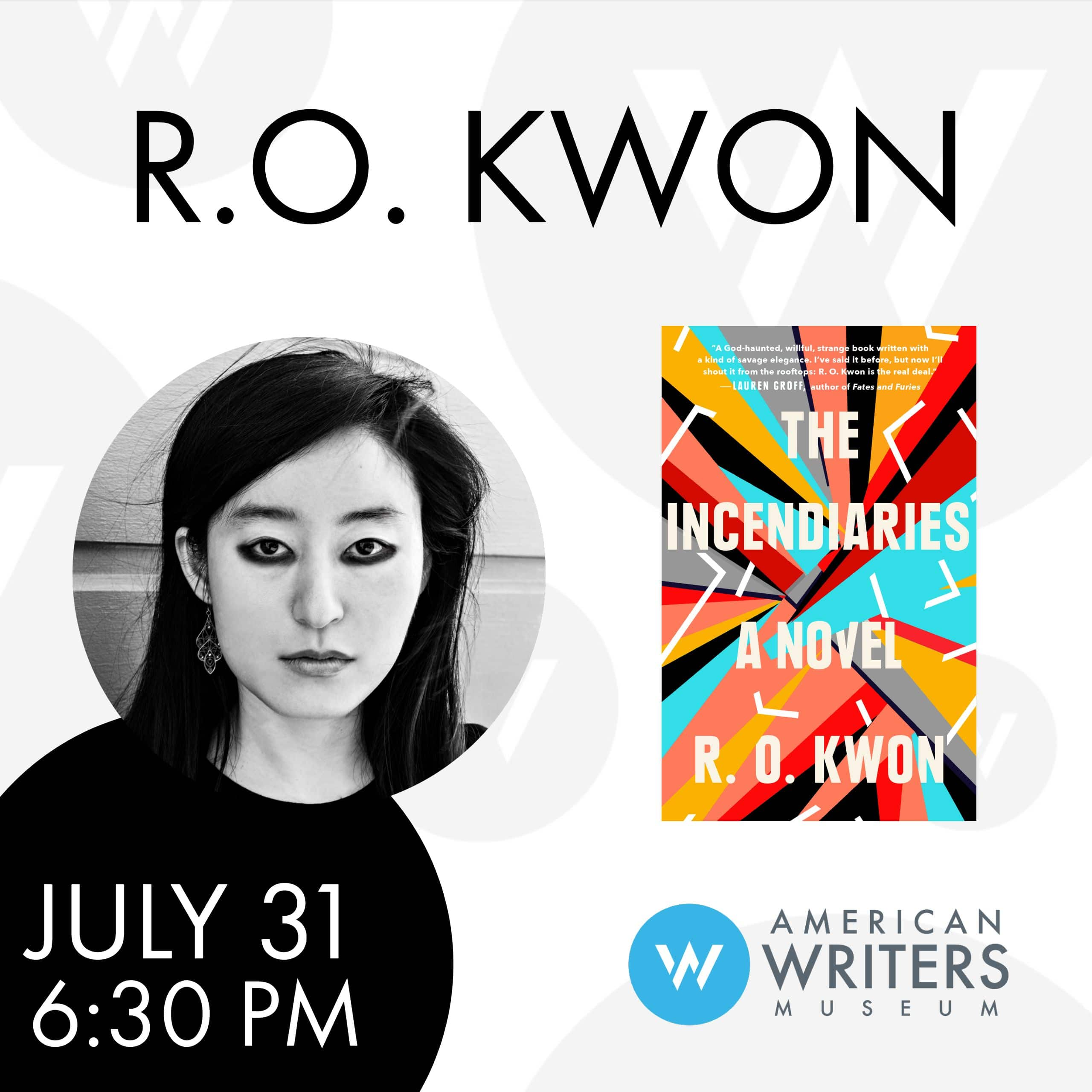R.O. Kwon at the American Writers Museum on July 31