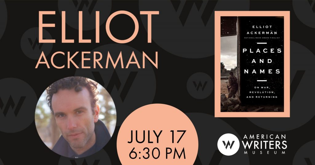 Elliot Ackerman at the American Writers Museum on July 17