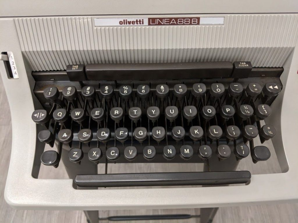 Mildred Benson, the author of Nancy Drew, has her typewriter on display at the American Writers Museum in Chicago