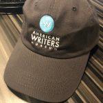 A dark gray American Writers Museum branded baseball cap