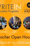 AWM WriteIn Education Programs hosts a Teacher Open House, August 18