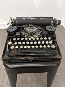 Ernest Hemingway's typewriter on display at the American Writers Museum